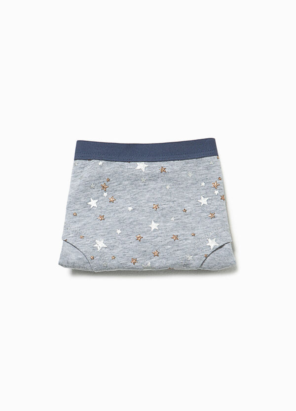 Glitter star patterned French knickers | OVS