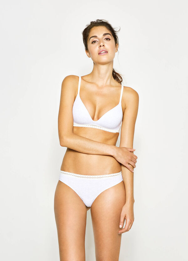 Two-tone Brazilian-cut briefs with lace on the back | OVS