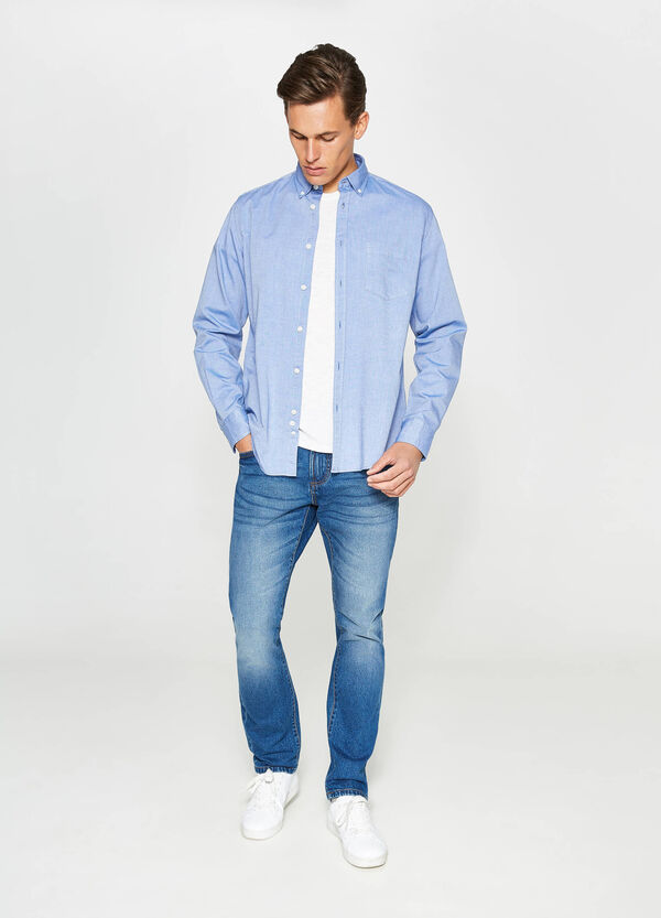 Casual-fit formal shirt with breast pocket | OVS