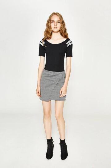 Cotton and hemp bodysuit with print