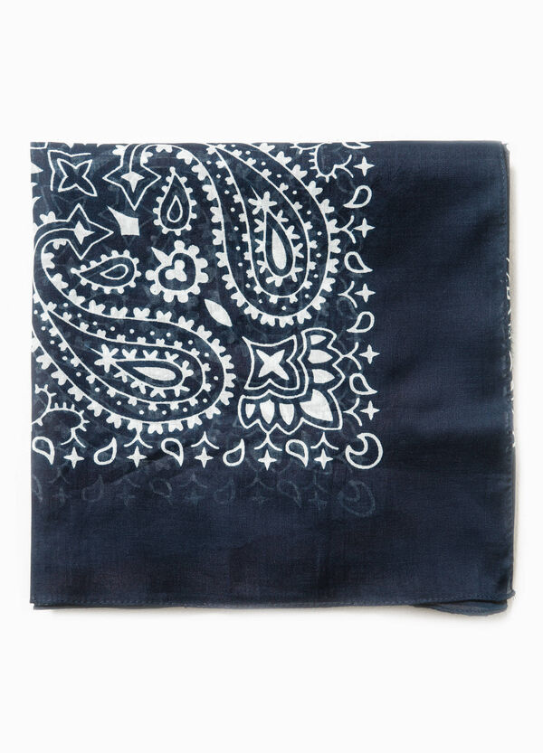 100% cotton scarf with paisley print | OVS