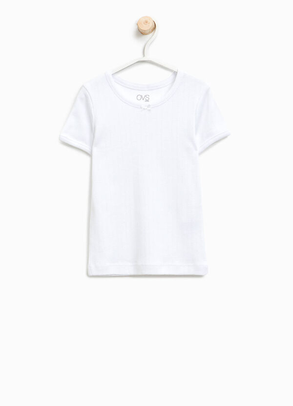T-shirt intima cotone organico fiocchetto | OVS