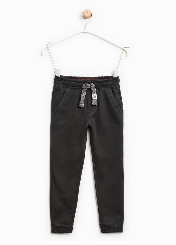 Pantaloni tuta con coulisse in cotone | OVS