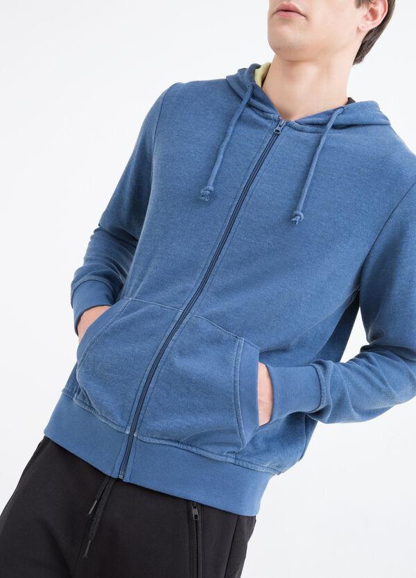 Cotton sports sweatshirt with hood | OVS