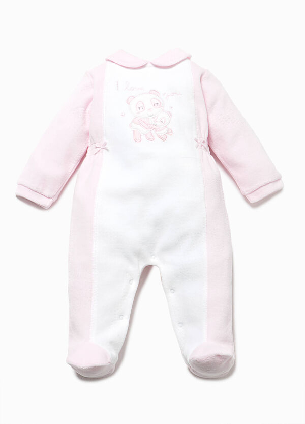 Two-tone onesie with bows | OVS