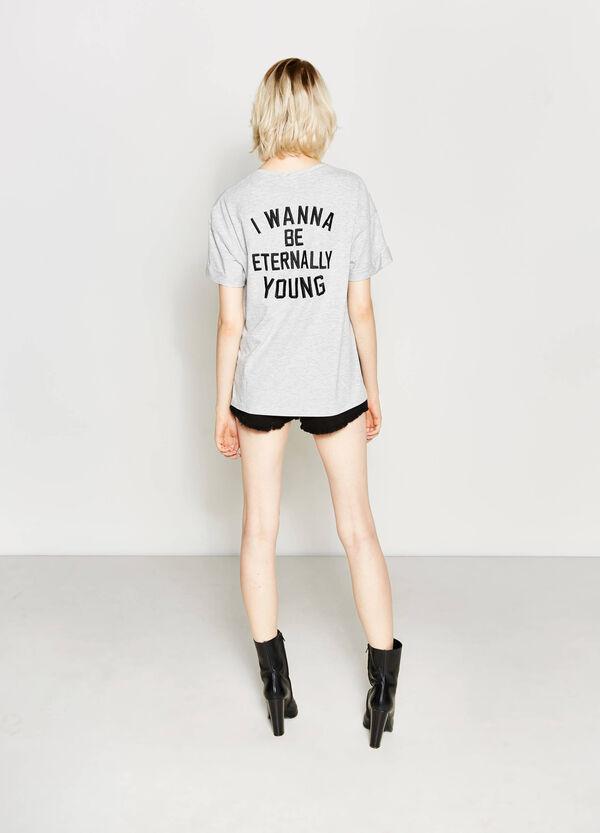 Asymmetric T-shirt with print | OVS
