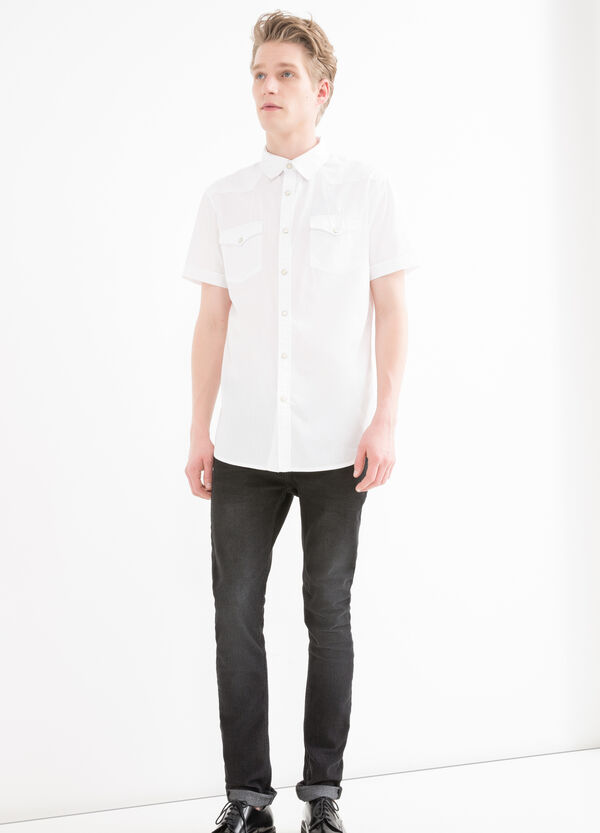 Camicia puro cotone bottoni G&H   OVS