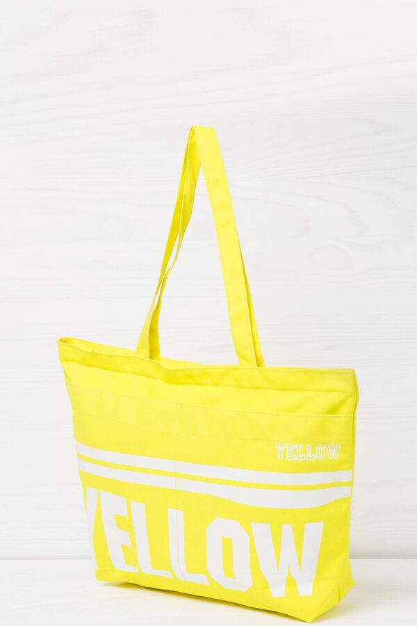 Shopping bag in cotone con stampa | OVS