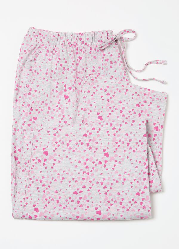 Curvy patterned pyjama trousers. | OVS