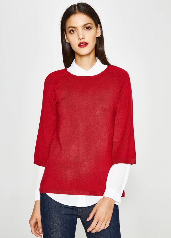 Viscose pullover with raglan sleeves | OVS