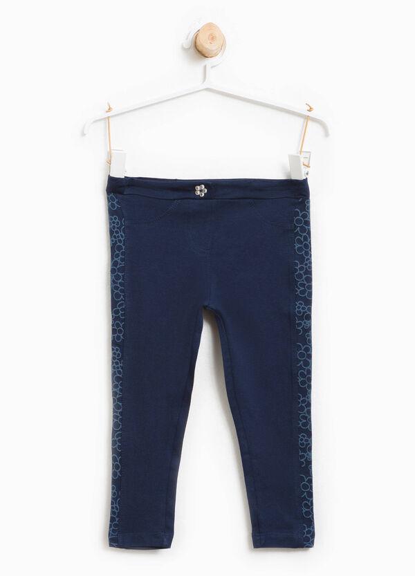 Pantaloni con inserti fantasia floreale | OVS