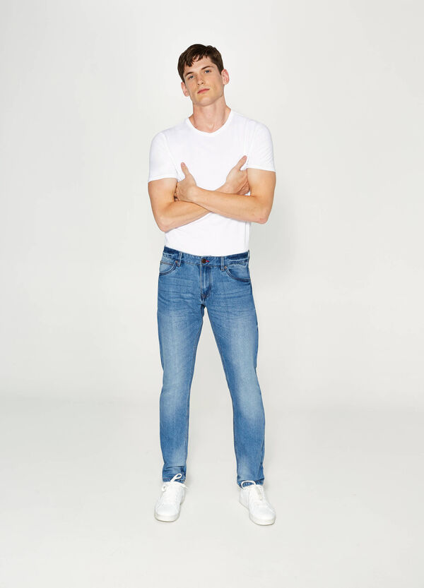 Jeans slim fit effetto used | OVS