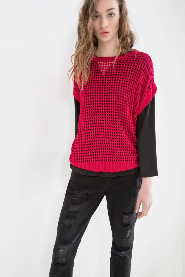 Solid colour 100% viscose pullover. | OVS
