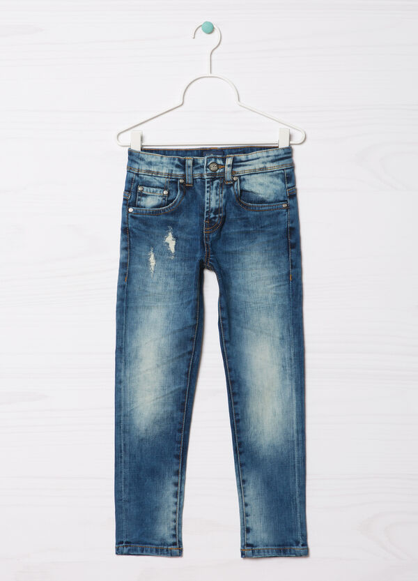 Worn-effect Blue Black jeans | OVS