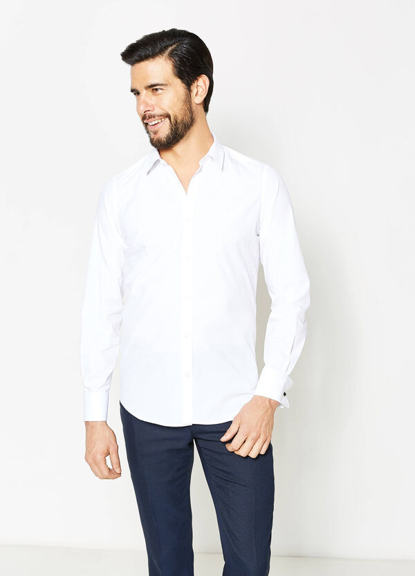 Slim-fit formal shirt with cufflinks | OVS
