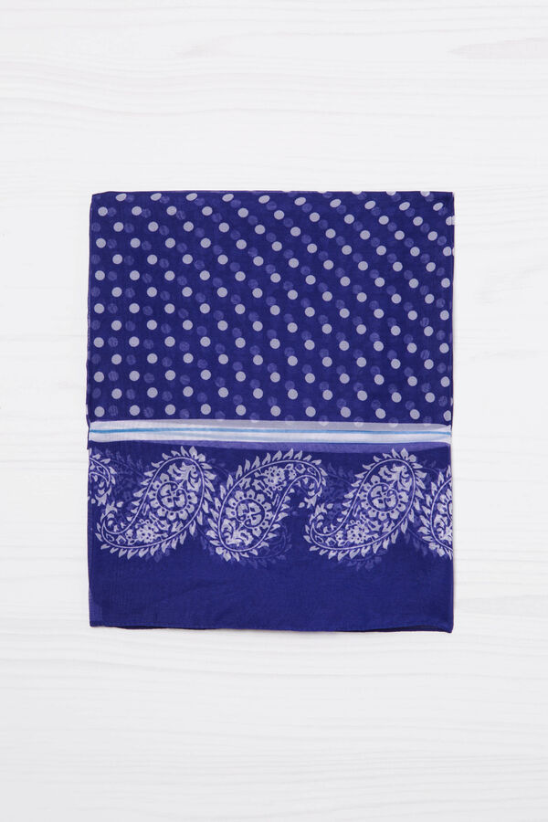 Polka dot and paisley patterned scarf | OVS