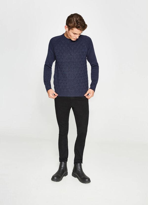 Pullover misto cotone lavorato tricot   OVS