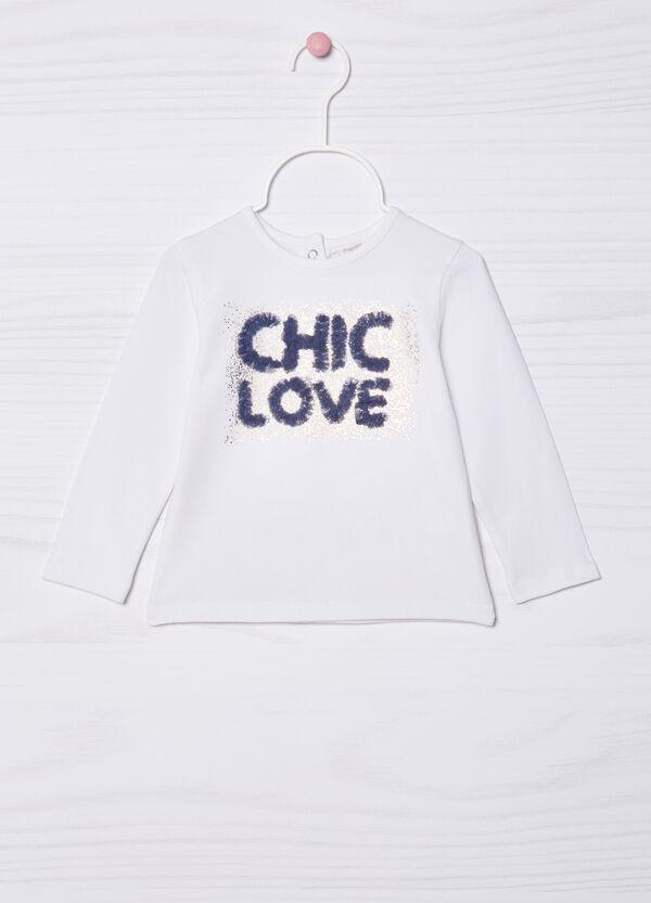 Printed stretch cotton T-shirt   OVS