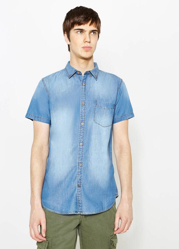 Camicia casual di jeans con taschino | OVS