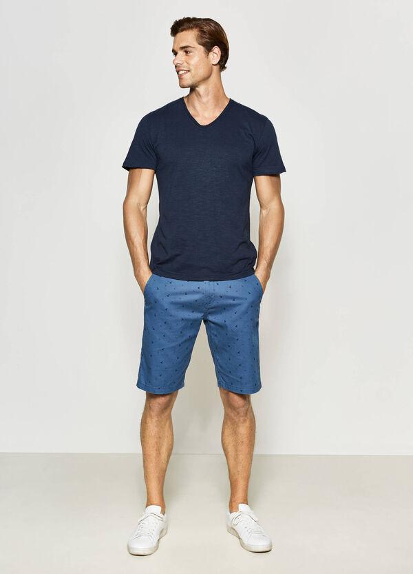 Patterned chino Bermuda shorts | OVS