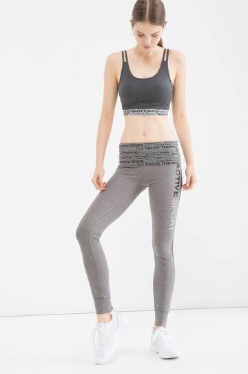 Gym leggings with printing