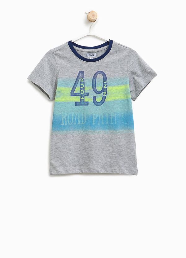 T-shirt in cotone stretch stampata | OVS