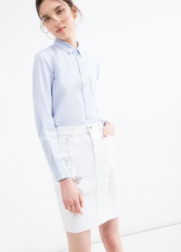 Used-effect denim skirt | OVS
