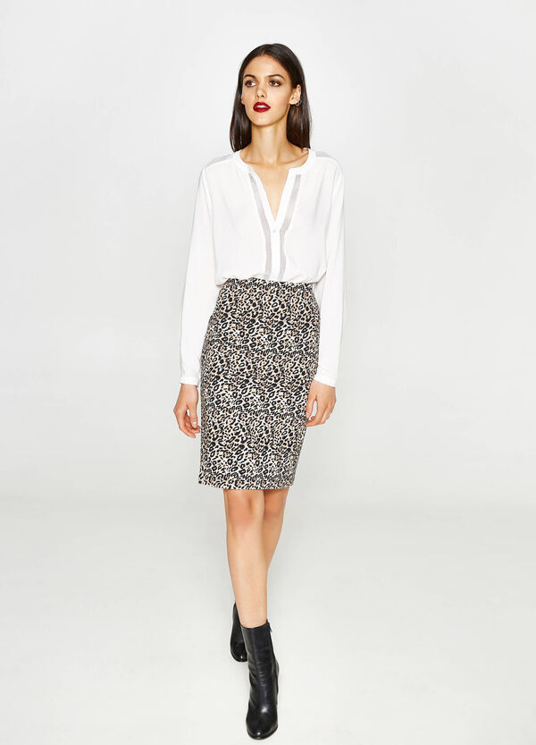 All-over animal print, pencil skirt | OVS