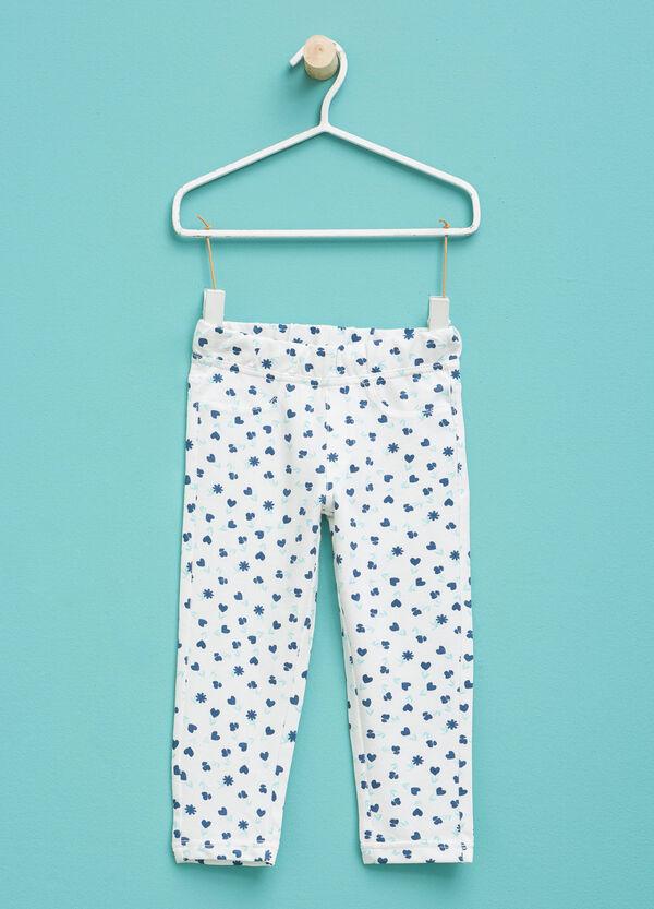 Pantaloni in cotone stretch fantasia | OVS