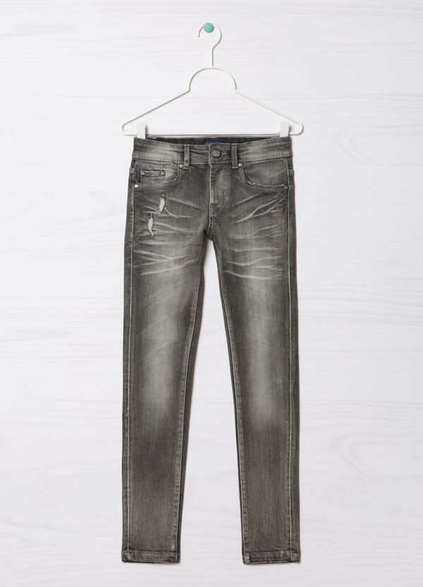 Jeans slim fit effetto used Blue Black   OVS