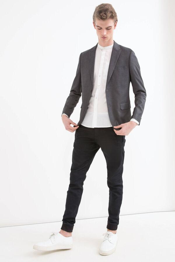 Plain viscose blend jacket. | OVS