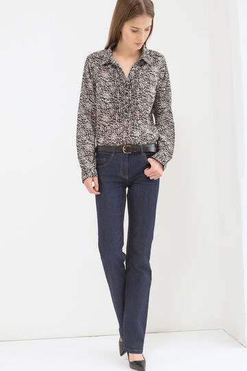 Patterned blouse in 100% cotton