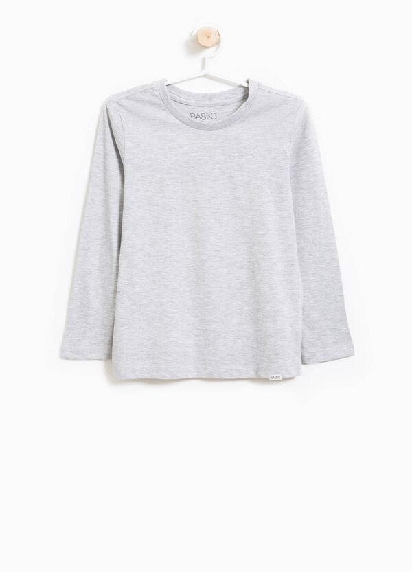 T-shirt in cotone mélange con patch | OVS