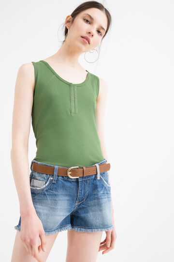 100% cotton top with hooks