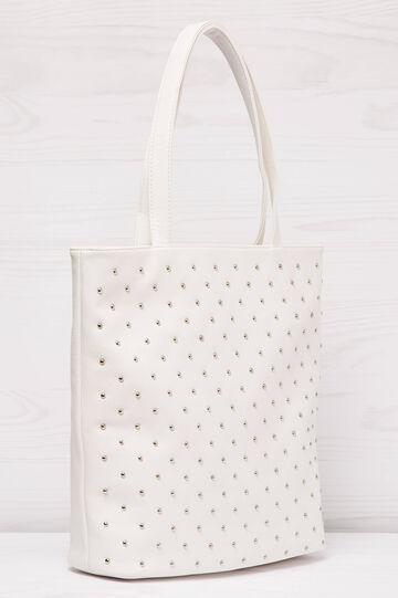Shopping bag similpelle con borchie