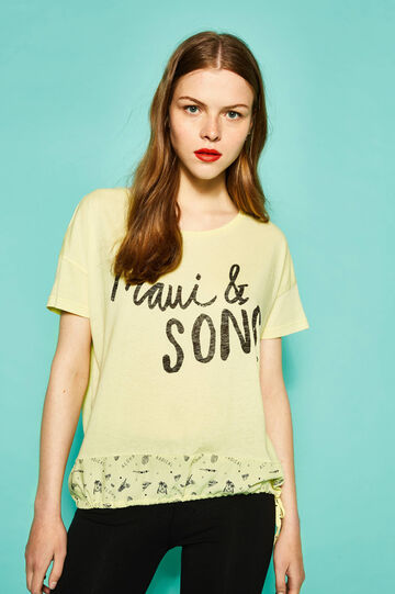 T-shirt with patterned insert by Maui and Sons