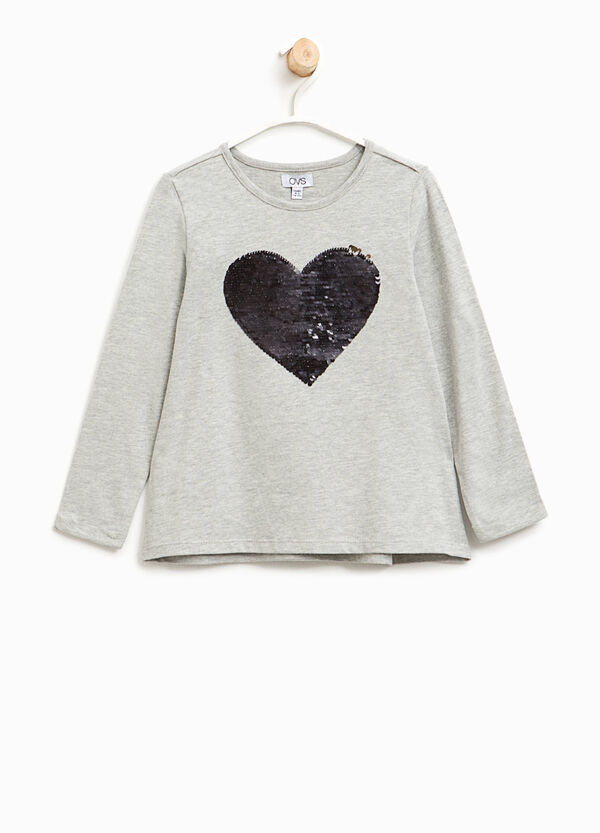 Cotton T-shirt with sequins | OVS