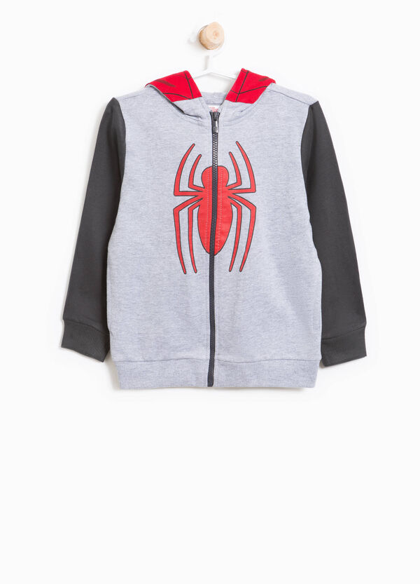 Cotton hoodie with Spiderman print | OVS