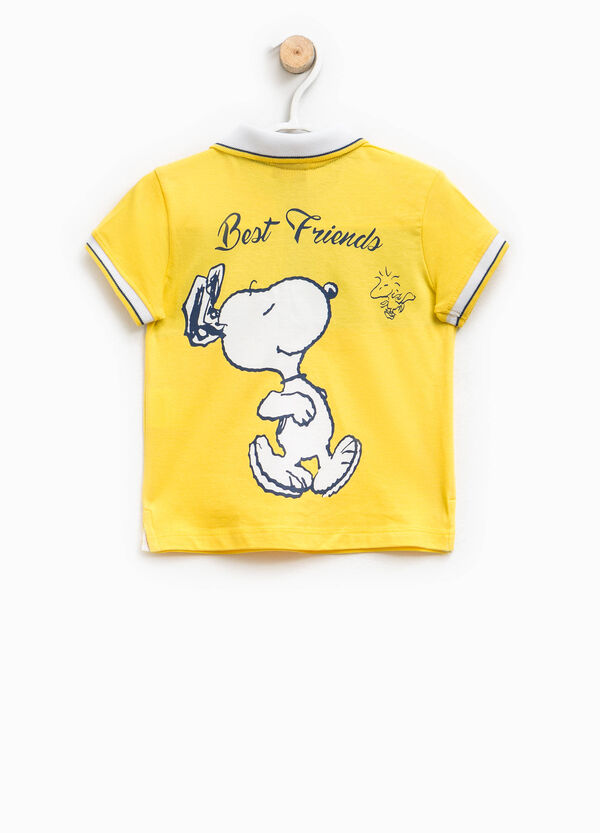 100% cotton polo shirt with Snoopy print | OVS