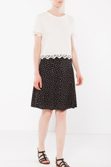 Polka dot flared skirt
