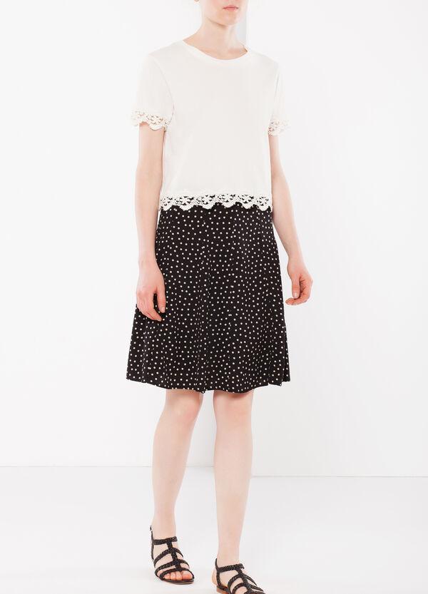 Polka dot flared skirt | OVS