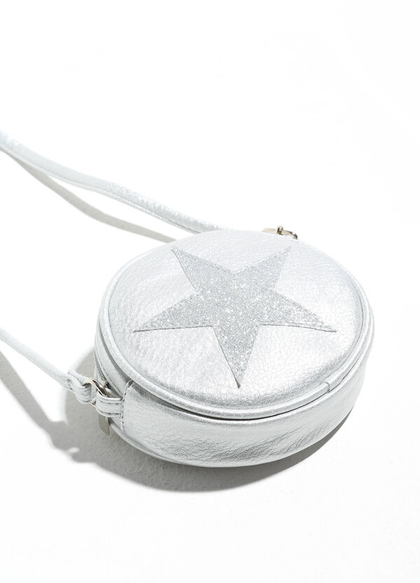 Shoulder bag with glitter star patch | OVS