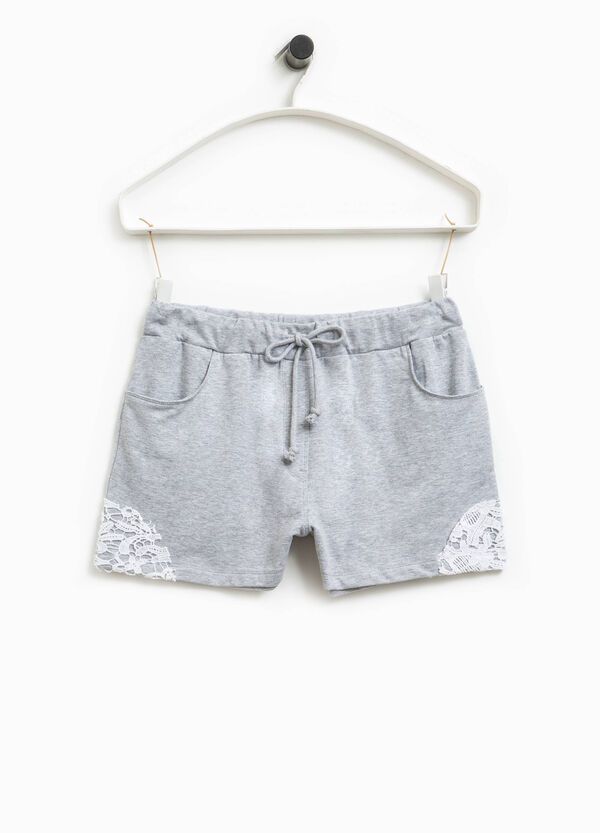 Smart Basic stretch shorts with lace | OVS