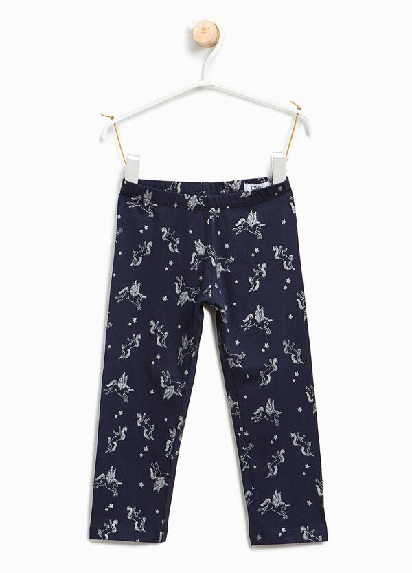 Glitter unicorn patterned leggings | OVS