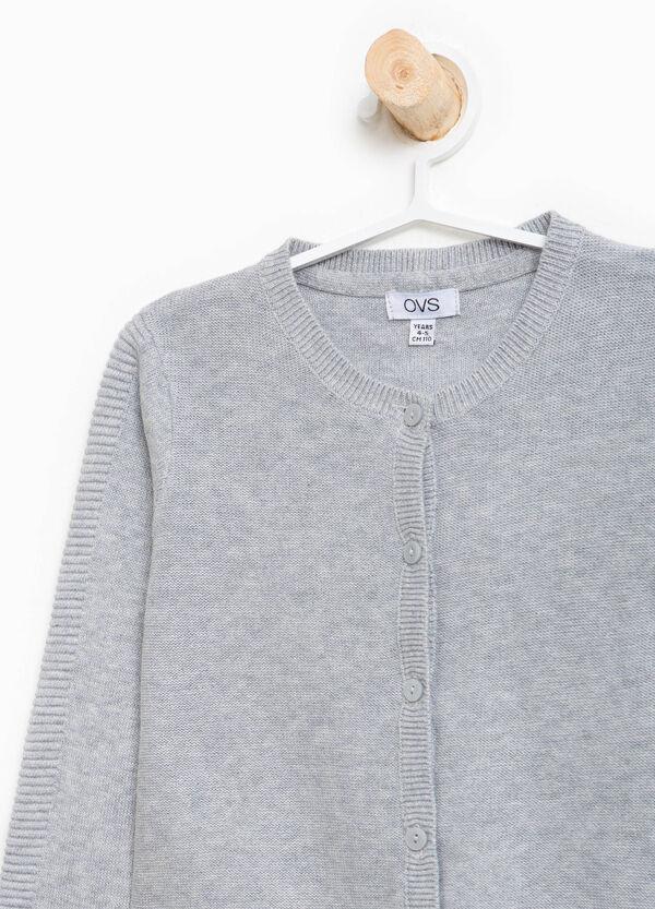 Solid colour 100% cotton cardigan | OVS