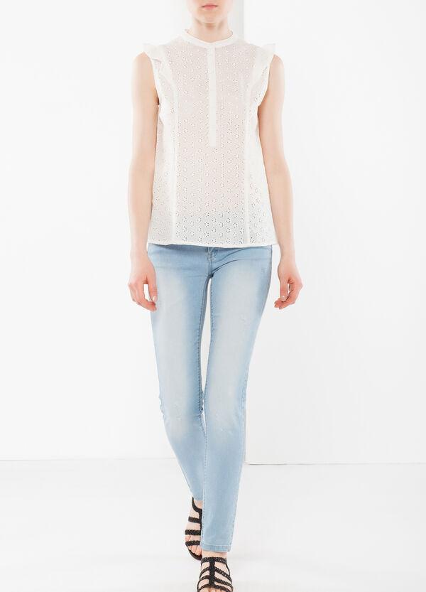 Sleeveless lacework shirt   OVS