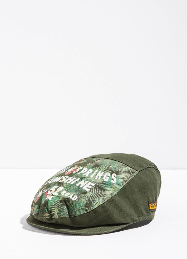Floral patterned cap with print | OVS