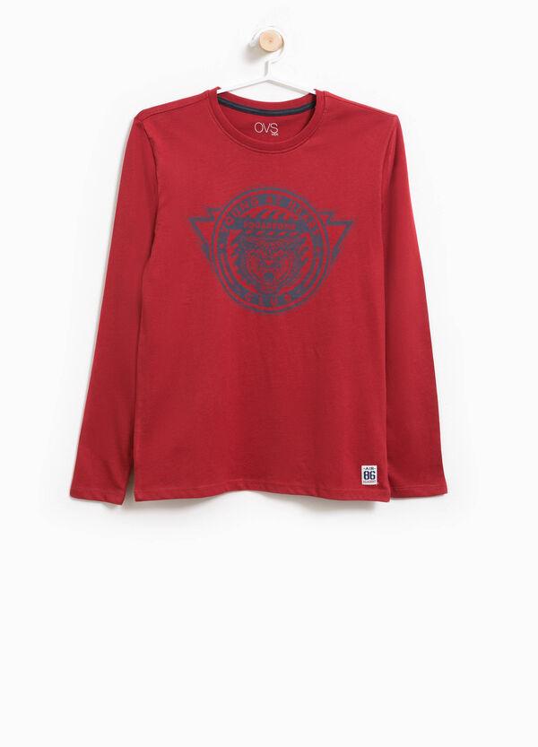 T-shirt in puro cotone girocollo e stampa | OVS
