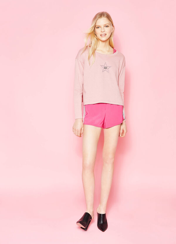 Shorts with glossy side bands | OVS