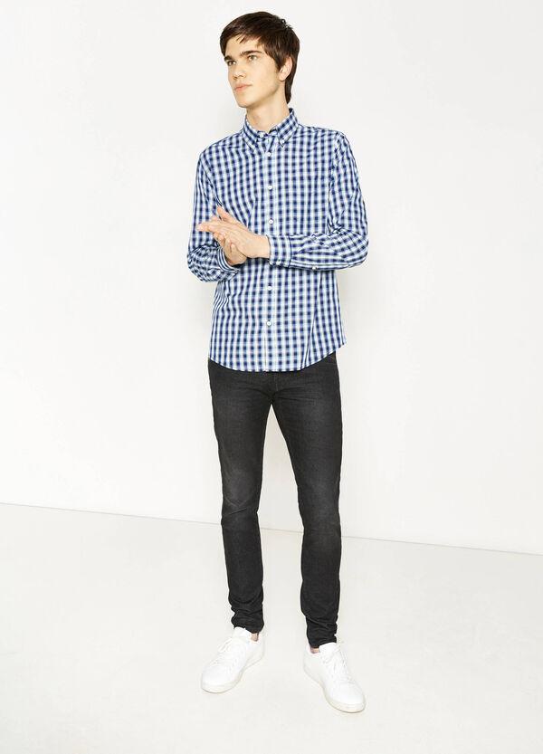 Camicia casual in cotone fantasia tartan | OVS